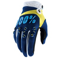 100% Airmatic Yellow/Navy Gloves