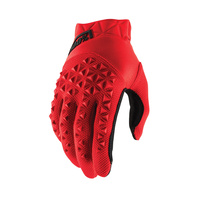 100% Airmatic Black/Red Gloves