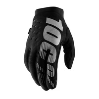 100% Brisker Cold Weather Black Gloves