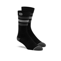 100% Casual Stripes Black Socks