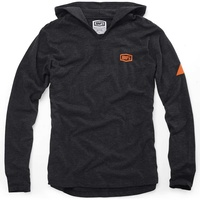 100% Gravel Black/Orange Hoodie
