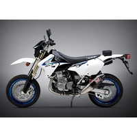 Yoshimura Suzuki DR-Z400S/SM 00-20 RS-4 Stainless Full Exhaust, w/ Carbon Fiber Mufflers
