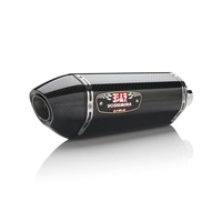 Yoshimura GSXR6 08-10 R77 Stainless Slip-On Exhaust, w/ Carbon Fiber Muffler/CF EP