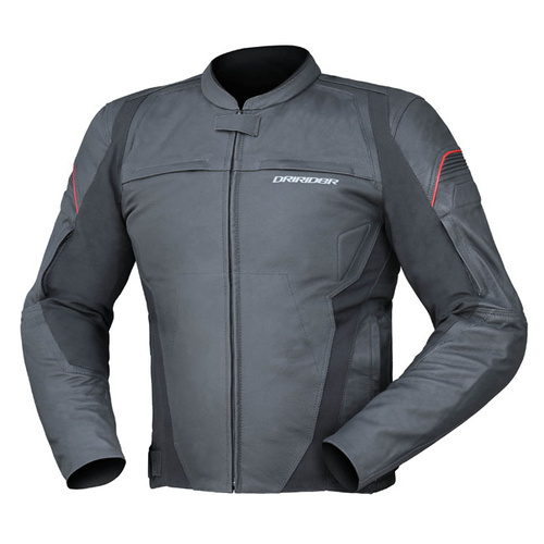 Dririder Mens Rapid Black Leather Road Jacket
