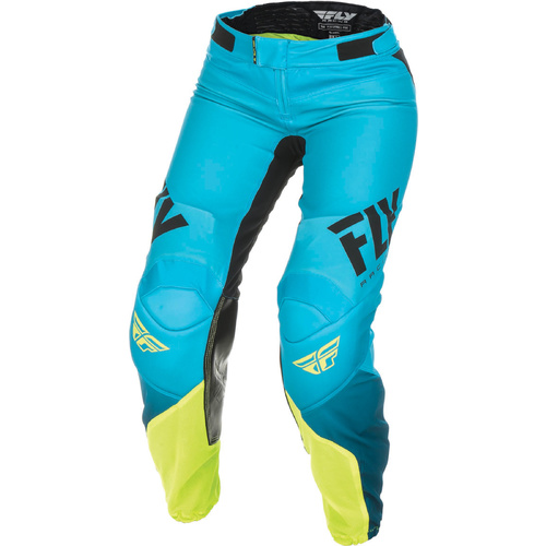 Fly Racing Ladies Lite Blue/Hi-Vis MX Pants [Size: 6]