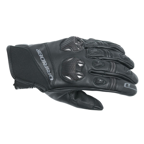Dririder Launch Summer Black/Black Road Gloves [Size:Medium]