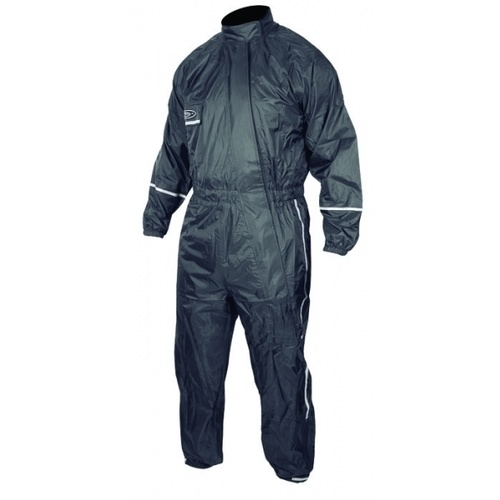 MotoDry Storm 1 Piece Black Rain Suit [Size: X-Small]